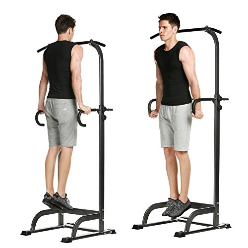 Garain Indoor Home Multifunction Adjustable Chin Up Pull Up Bar Strength Fitness Power Tower (US STOCK) by Garain