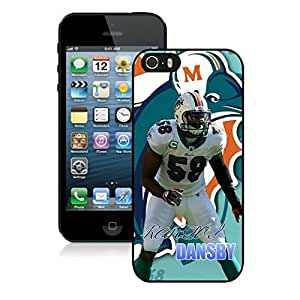 NFL Miami Dolphins Karlos Dansby iphone 5 5S Casecell phone cases&Gift Holiday&Christmas Gifts NFIU8714322