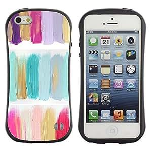 "Pulsar iFace Series Tpu silicona Carcasa Funda Case para Apple iPhone 5 / iPhone 5S , Pintura al óleo verde Colores Pastel"""