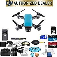 DJI Spark Quadcopter (Sky Blue) Beginner Accessory Starter Basic Bundle Package Deal
