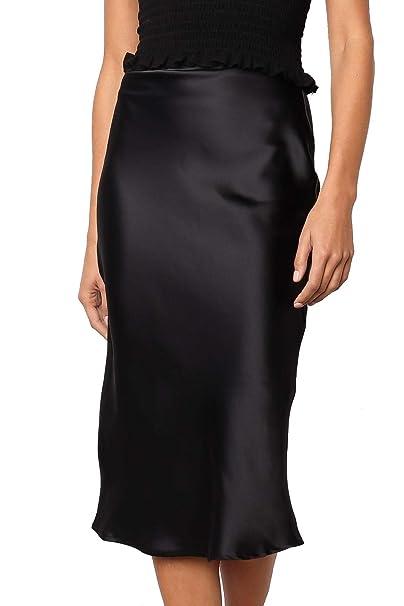 ff27a47531 Junxiang Women's Sexy Leopard Print High Waist Pencil Midi Skirt at Amazon  Women's Clothing store: