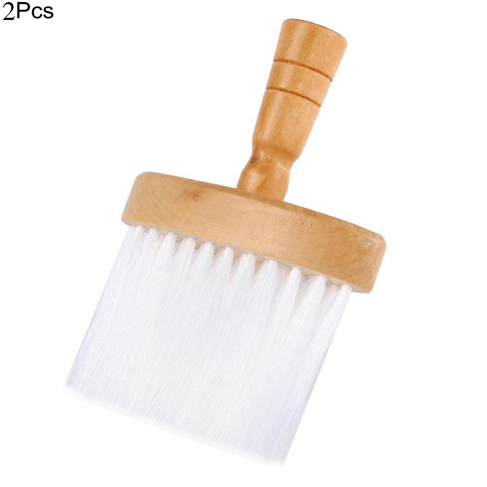 2Pcs Soft Neck Duster Hair Clean Brushes Hairbrush Wood Handle Tool for Barber Hairdresser Yosoo®