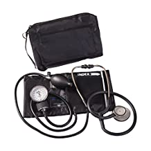 MatchMates Combination Kit with a 3M Littmann Lightweight II S.E. Stethoscope and a MABIS Aneroid Sphygmomanometer, Black