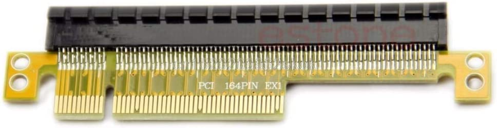 ShineBear 1PC PCI Express Riser Card x8 to x16 Left Slot Adapter for 1U Servers #H029# Cable Length: Other