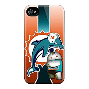 Premium Miami Dolphins Back Cover Snap On Case For Iphone 4/4s