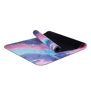 LRXG Yoga Mat, Alfombra de Yoga de Caucho Natural ...