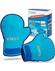 ICEHOF Koelhandschoenen Gel [2x] Zacht materiaal - koude- en warmtetherapie voor handen, vingers voor chemotherapie en reuma hyperthermie koude koeling handschoen chemo