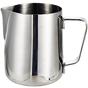 Stainless Steel Milk Frothing Pitcher 12 oz / 350 ml - Perfect for Espresso Machines, Milk Frothers, Latte Art,Hot Coffee Milk Frother Creamer Frothing Pitcher from Nanan