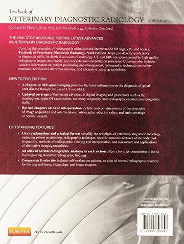 Textbook of Veterinary Diagnostic Radiology, 6e - medicalbooks.filipinodoctors.org