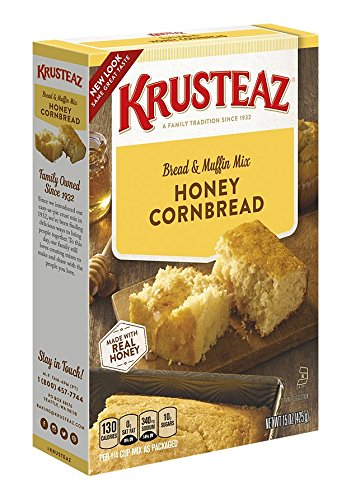 Krusteaz Honey Cornbread & Muffin Mix, 15-Ounce Boxes  (Pack of 12)