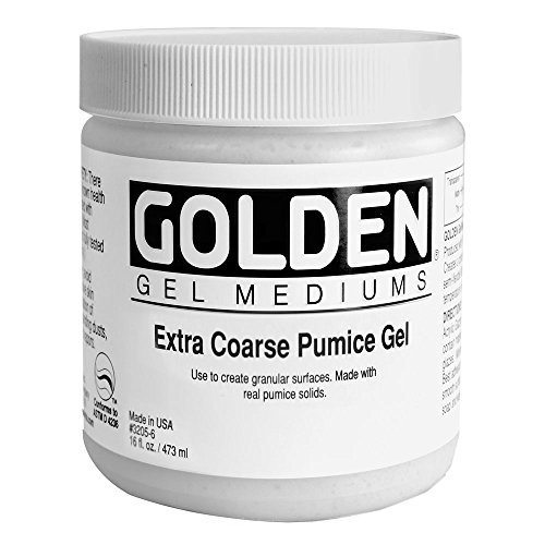 Golden Acryl Med 16 Oz X-Coarse Pumice Gel (Coarse Pumice Golden Gel)
