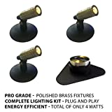 Patriot Brass LED Waterproof Pond and Landscape Lighting 4 Watt Light Kit P-B1