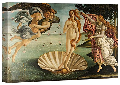 Birth of Venus by Botticelli Giclee ped Gallery Stretched Framed 12 L X 18 W