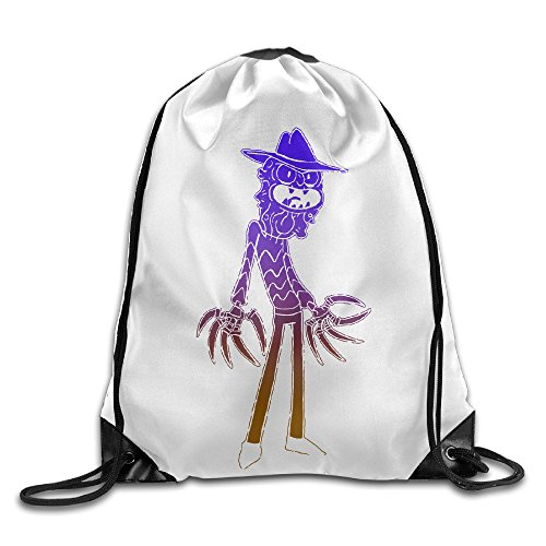 ZXSVCB Scary Terry Commemorative Edition Printed Drawstring Bag Personalized Drawstring Beam Port Gym Backpack