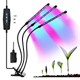 Abbicen Three Head Grow Light 54LEDs Clip on 27W Indoor Plant Grow Light with Flexible 360 Degree Gooseneck, Red Blue Spectrum, Three Separate Control Switches for Plants Greenhouse Germin