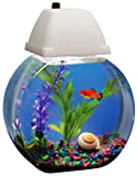 AQUARIUS AQB001 Aqua Bowl 1-Gallon Fish Bowl with Lighted Hood