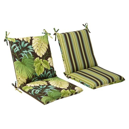 Pillow Perfect Reversible Outdoor Chair Cushion - Squared 36