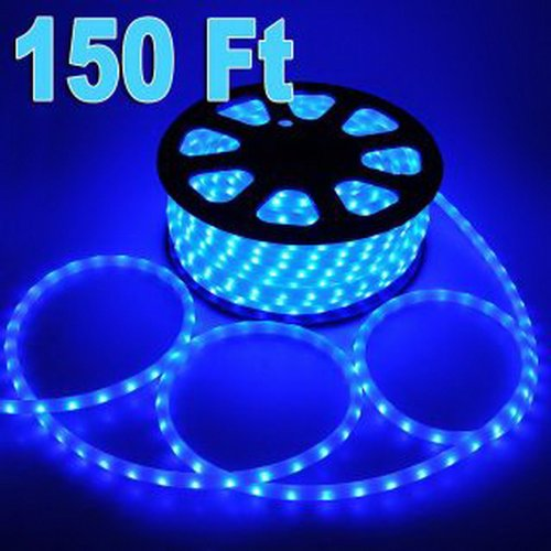 SAP Brand Name 150' Feet LED Rope Lights Blue Color 1/2