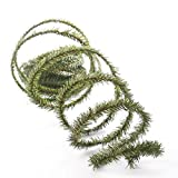 72 Feet of Flexable, Bendable, Twistable Artificial Mini Pine Roping Garland for Embellishing and Decorating Your Holiday Home and Crafts