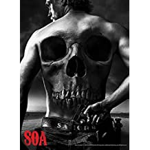 Sons Of Anarchy Skull on Back of Jax 24x36 Poster