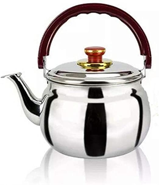 Stainless Steel 1L Whistling Tea Kettle with Lid /& Handle Stovetop Camping