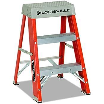 Louisville FS1502 Fiberglass Heavy Duty Step Ladder, 28 3/8