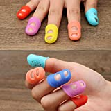 STOBOK 5PCS Silicone Finger Cover Flexible Heat