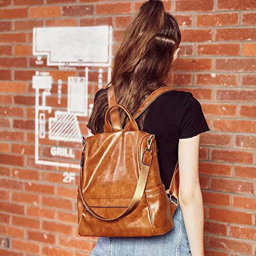 CLUCI,Women Backpack Purse Fashion Leather Large Travel Bag Ladies Shoulder Bags