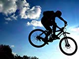 SPORT MOUNTAIN BIKE SILHOUETTE JUMP BICYCLE 18X24'' POSTER ART PRINT LV11179