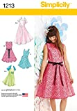 Simplicity Creative Patterns 1213 Girls' and Girls' Plus Dresses and Knit Shrug, AA (8-10-12-14-16)