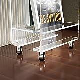 Acrylic Lucite Rolling Magazine/Telephone Table