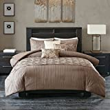 Madison Park Getty 6 Piece Duvet Cover Set Taupe Full/Queen