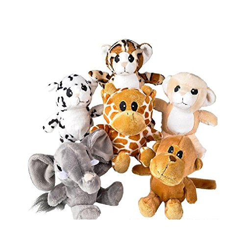 6'' Baby Animals Plush (With Sticky Notes) by Bargain World