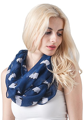 MissShorthair Women's Fashion Soft Light Cartoon Sheep Sheer Infinity Scarf (Blue)
