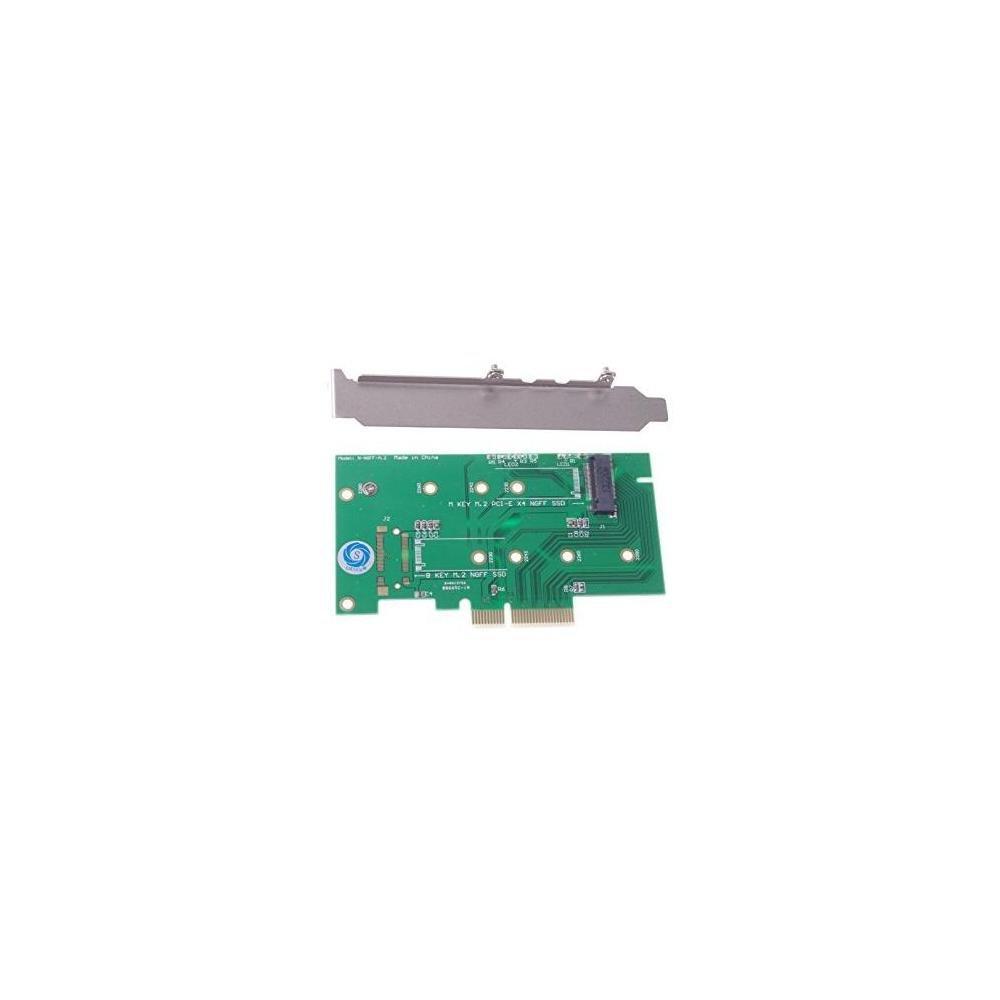 SMAKN M.2 NGFF PCIe SSD de 4 carriles a PCIE 3.0 x4 y adaptador NGFF a SATA para Samsung xp941 LITE-ON IT M6E con soport