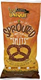 Unique Sprouted 100% Whole Grain Pretzel Splits (Pack of Four - 8 Oz. Bags)