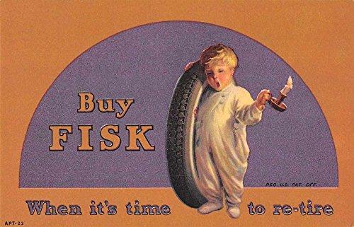 Fisk Tires Advertising Antique Postcard J76798