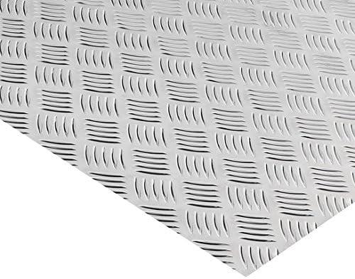 Alu Riffelblech Warzenblech Duett Aluminium Tr/änenblech Alublech 400x300x1,5//2,0 mm