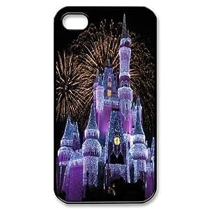 CTSLR Disney Castle Design Hard Case Cover Skin for Iphone 5/5S Case Cover- 1 Pack - Black/White - 6