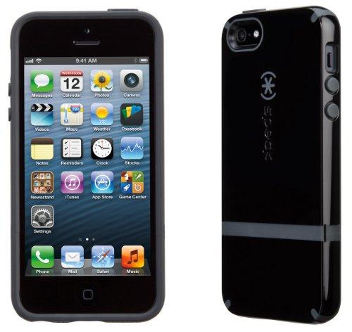 Speck Products CandyShell Flip Dockable Case for iPhone 5 & 5S - Black/Slate Grey (Case Iphone 5s Speck Flip)
