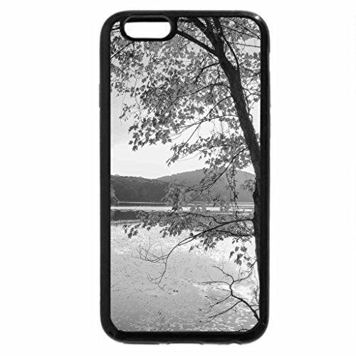 iPhone 6S Plus Case, iPhone 6 Plus Case (Black & White) - Autumn over the lake