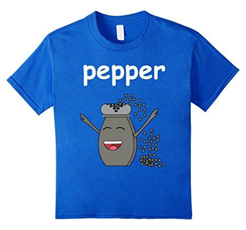 Kids salt and PEPPER Shirt Best Friend Matching Couples Halloween 12 Royal Blue