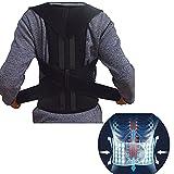 Back Brace Posture Corrector for Men and Women- Relieve Lower Back Pain- Shoulder Back Support Belt Correct Hunchback (L)