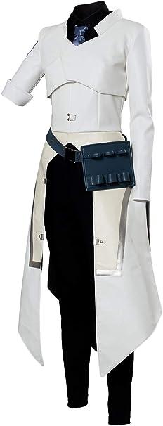 Cosmovie - Disfraz de científico Moira para Mujer - Blanco - M ...