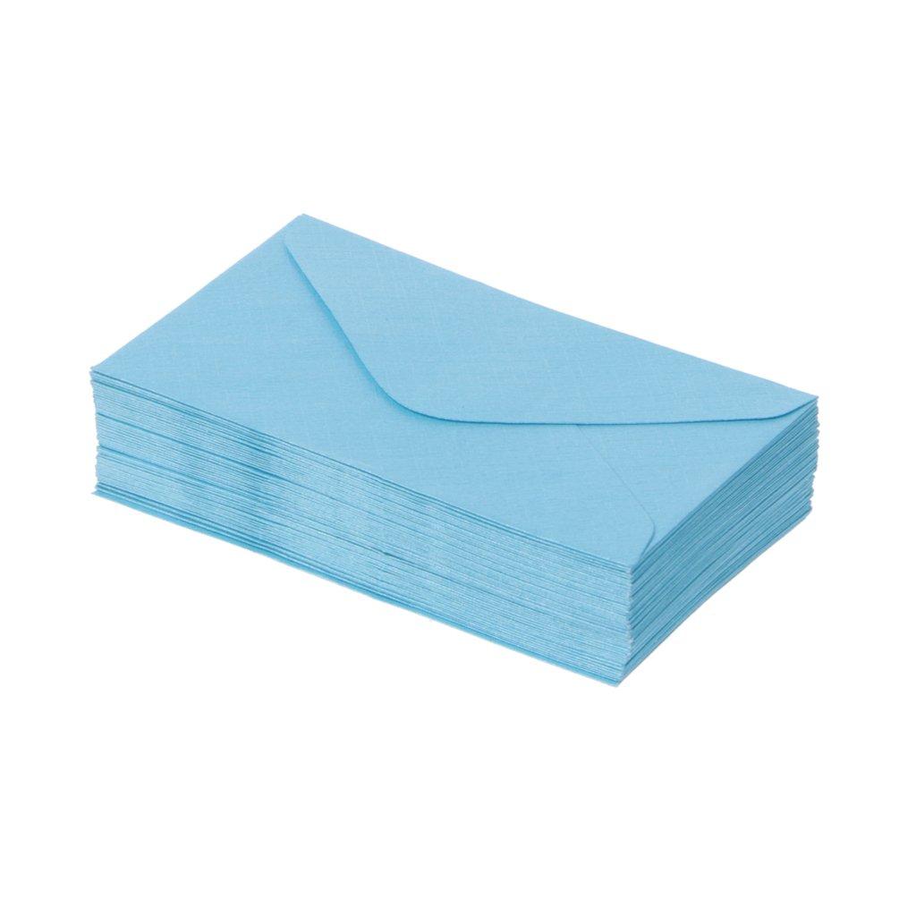 Mentin 50Pcs R/étro Papier Enveloppes Mini Color/é Papier Mariage F/ête Invitation Cartes de voeux Cadeau Rouge
