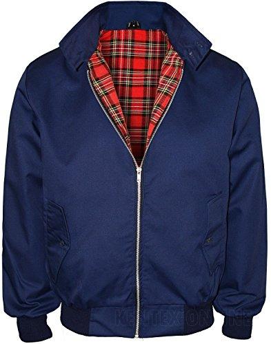 Kentex Online Men's Harrington Retro Smart Classic Jacket Large Navy