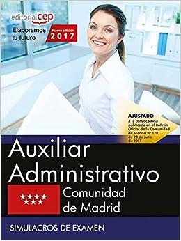 Auxiliar Administrativo Comunidad De Madrid Simulacros De Examen