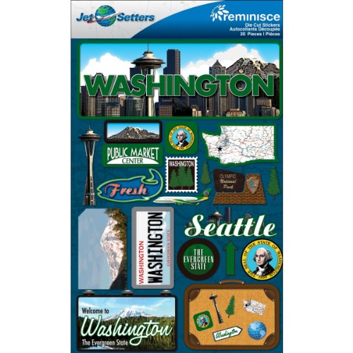 (Reminisce Jet Setters 2 3-Dimensional Sticker, Washington)