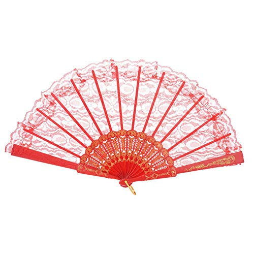 Pattern Chinese Style Lace Hand Held Folding Fan Dance Party Wedding Hand Fan Cool Bamboo Flower Personalized 19feb19,F
