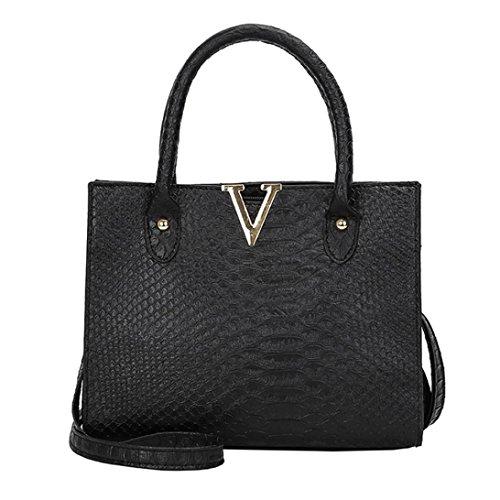 Interent Fashion Woman Crossbody Bags Leather Handbag Alligator Pattern Shoulder Bag Black